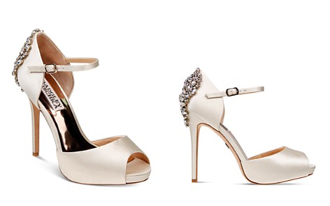Badgley Mischka Dawn Embellished Satin Ankle Strap High-Heel Pumps - Bloomingdale's_2