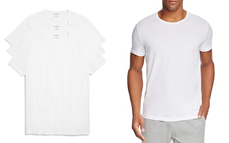 Emporio Armani Pure Cotton Crewneck T-Shirts - Pack of 3 - Bloomingdale's_2