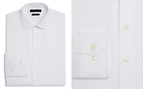 The Men's Store at Bloomingdale's Twill Solid Regular Fit Basic Dress Shirt - 100% Exclusive_2