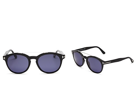 Tom Ford Newman Round Sunglasses, 53mm - Bloomingdale's_2