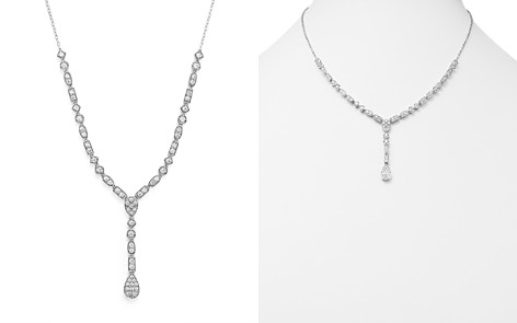 Diamond Y Necklace in 14K White Gold, 2.0 ct. t.w. - 100% Exclusive - Bloomingdale's_2