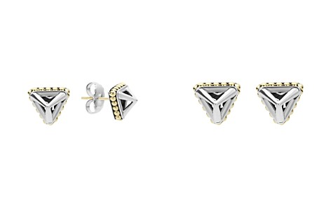 LAGOS 18K Gold and Sterling Silver Pyramid Stud Earrings - Bloomingdale's_2
