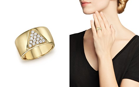 Diamond Pavé Cigar Band in 14K Yellow Gold, .35 ct. t.w. - 100% Exclusive - Bloomingdale's_2