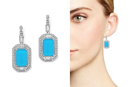 Judith Ripka Sterling Silver Doublet Baguette Drop Earrings with Rock Crystal - Bloomingdale's_2
