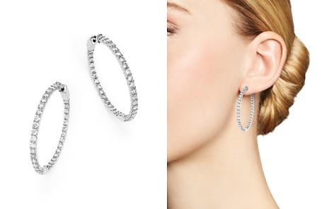 Diamond Inside Out Hoop Earrings, in 14K White Gold, 5.0 ct. t.w. - 100% Exclusive - Bloomingdale's_2