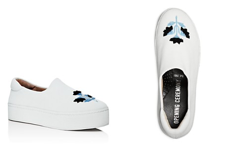 Opening Ceremony Embroidered Platform Slip-On Sneakers - Bloomingdale's_2