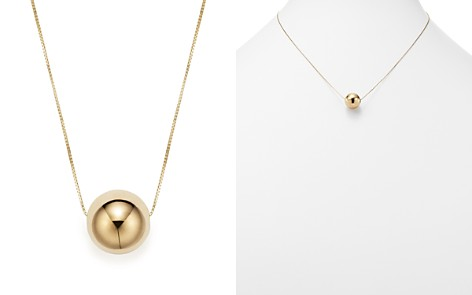 """14K Yellow Gold Bead Pendant Necklace, 18"""" - 100% Exclusive - Bloomingdale's_2"""