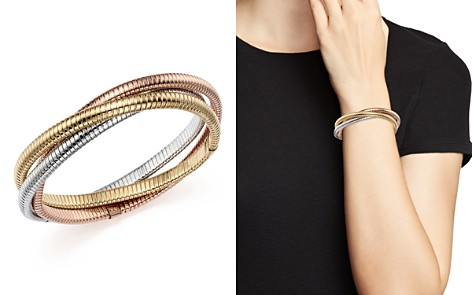 14K Yellow, White and Rose Gold Triple Tubogas Bracelet - 100% Exclusive - Bloomingdale's_2