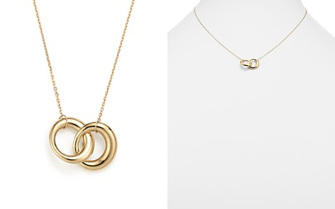 """14K Yellow Gold Double Interlocked Circle Chain Necklace, 17"""" - 100% Exclusive - Bloomingdale's_2"""