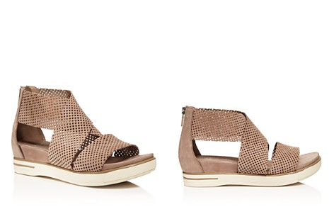 Eileen Fisher Perforated Nubuck Leather Sandals - Bloomingdale's_2