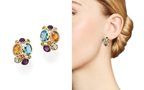 Multi Semi-Precious Gemstone and Diamond Earrings in 14K Yellow Gold - 100% Exclusive - Bloomingdale's_2