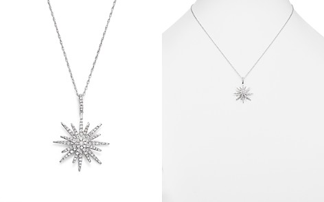 Diamond Starburst Pendant Necklace in 14K White Gold, .55 ct. t.w. - 100% Exclusive - Bloomingdale's_2