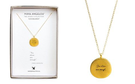 "Dogeared Maya Angelou Legacy Collection ""You Alone are Enough"" Necklace, 18"" - Bloomingdale's_2"
