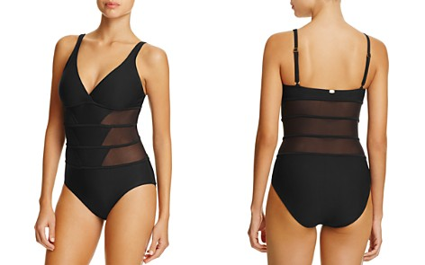 Amoressa Tetons Mesh Inset Maillot One Piece Swimsuit - Bloomingdale's_2