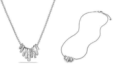 David Yurman Stax Rondelle Pendant Necklace with Diamonds - Bloomingdale's_2