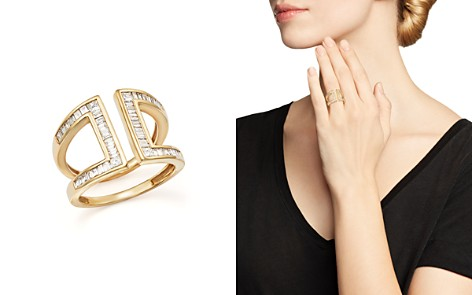 Diamond Baguette and Princess Cut Open Band in 14K Yellow Gold, .80 ct. t.w. - Bloomingdale's_2