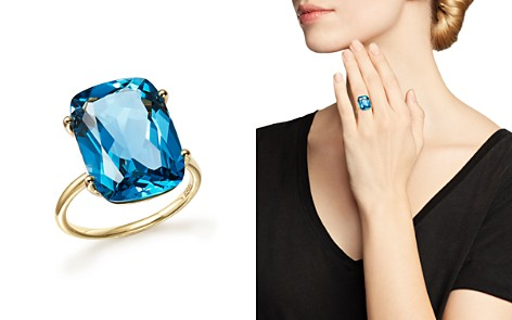 London Blue Topaz Statement Ring in 14K Yellow Gold - 100% Exclusive - Bloomingdale's_2