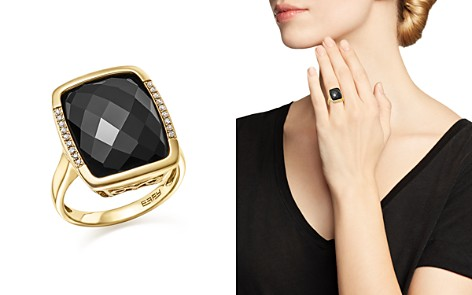 Onyx and Diamond Pavé Statement Ring in 14K Yellow Gold - 100% Exclusive - Bloomingdale's_2