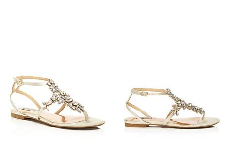 Badgley Mischka Cara Embellished Ankle Strap Sandals - Bloomingdale's_2