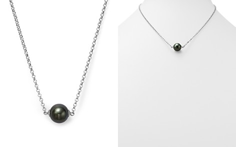 """Cultured Tahitian Black Pearl Pendant Necklace on 14K White Gold, 18"""" - 100% Exclusive - Bloomingdale's_2"""