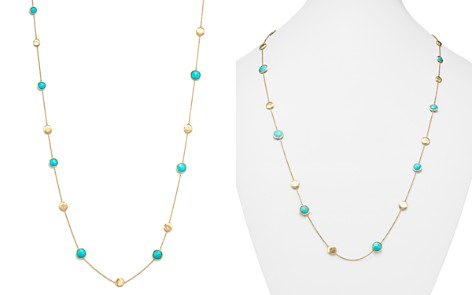 """Marco Bicego 18K Yellow Gold Jaipur Necklace with Turquoise, 16"""" - Bloomingdale's_2"""