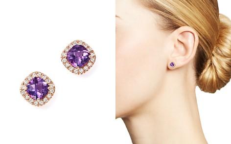 Gemstone and Diamond Stud Earrings in 14K Gold - 100% Exclusive - Bloomingdale's_2