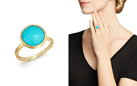 Marco Bicego 18K Yellow Gold Jaipur Ring with Turquoise - Bloomingdale's_2