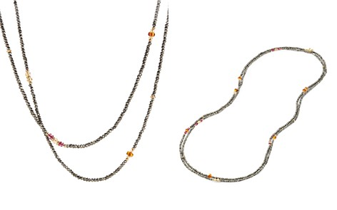 David Yurman Mustique Beaded Necklace with Pyrite, Citrine and Pink Tourmaline in 18K Gold - Bloomingdale's_2