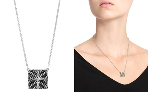 """John Hardy Sterling Silver Modern Chain Black Sapphire Square Pendant Necklace, 16"""" - Bloomingdale's_2"""