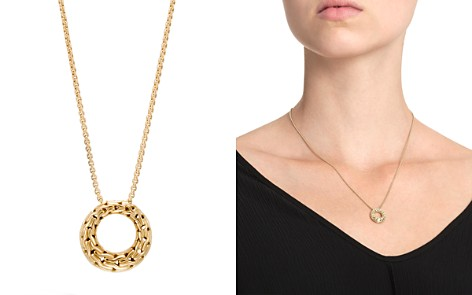 """John Hardy 18K Yellow Gold Classic Chain Small Round Pendant Necklace, 16"""" - Bloomingdale's_2"""