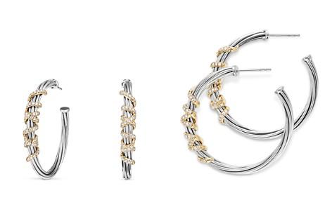 David Yurman Helena Large Hoop Earrings With Diamonds And 18k Gold Bloomingdale S 2