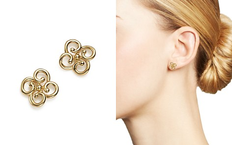 Bloomingdale's 14K Yellow Gold Twist Clover Earrings - 100% Exclusive_2