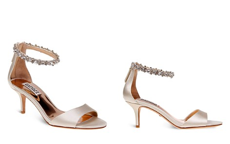 Badgley Mischka Geranium Embellished Ankle Strap Mid Heel Sandals - Bloomingdale's_2