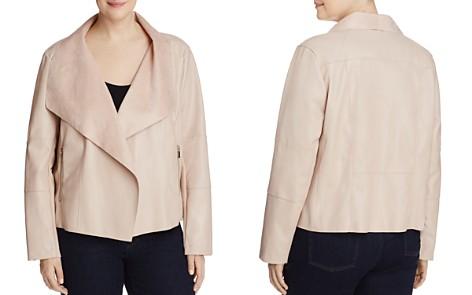 Bagatelle Plus Faux Leather Drape Jacket - Bloomingdale's_2