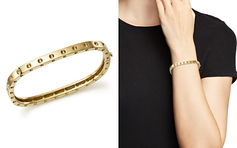 Roberto Coin 18K Yellow Gold Pois Moi Single Row Bangle - Bloomingdale's_2