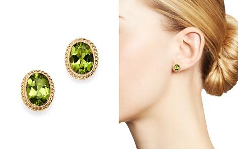 Gemstone Oval Bezel Stud Earrings in 14K Yellow Gold - 100% Exclusive - Bloomingdale's_2