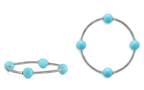 David Yurman Mustique Four Station Bangle Bracelet with Turquoise - Bloomingdale's_2