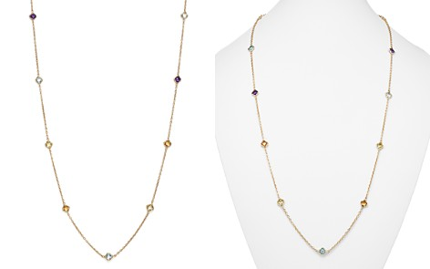 "Multi Gemstone Clover Station Necklace in 14K Yellow Gold, 36"" - 100% Exclusive - Bloomingdale's_2"