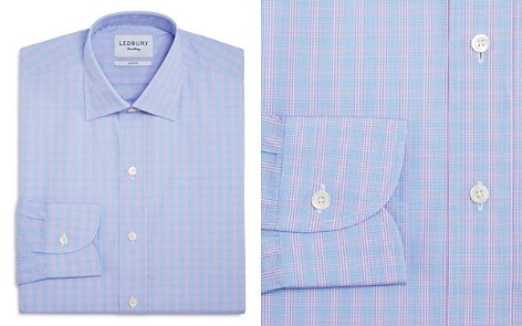 Ledbury Gingham Over Check Slim Fit Dress Shirt - Bloomingdale's_2
