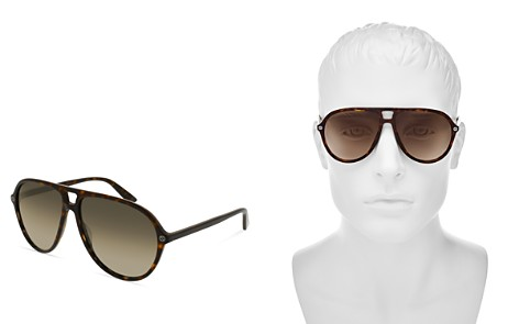 Gucci Oversized Aviator Sunglasses, 59mm - Bloomingdale's_2