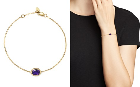 Amethyst Oval Bracelet in 14K Yellow Gold - 100% Exclusive - Bloomingdale's_2