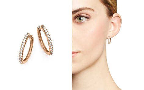 Diamond Hoop Earrings in 14K Rose Gold, .40 ct. t.w. - 100% Exclusive - Bloomingdale's_2