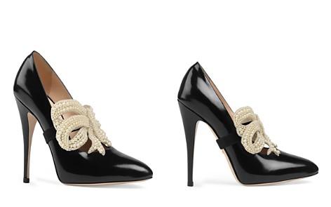 Gucci Elaisa Embellished Bow High-Heel Pumps - Bloomingdale's_2