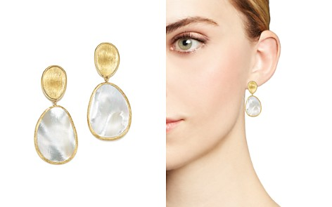 Marco Bicego 18K Yellow Gold Lunaria Mother-of-Pearl Two-Drop Earrings - Bloomingdale's_2