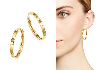 Roberto Coin 18K Yellow Gold Symphony Pois Moi Hoop Earrings - Bloomingdale's_2
