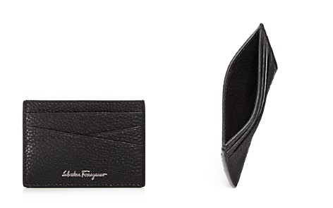Salvatore Ferragamo Firenze Tumbled Calfskin Flat Card Case - Bloomingdale's_2