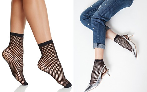 Pretty Polly Fishnet Anklet Socks - Bloomingdale's_2