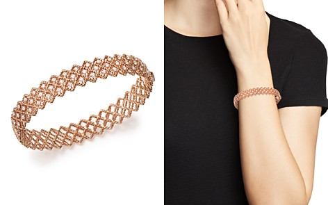 Roberto Coin 18K Rose Gold New Barocco Diamond Bangle - Bloomingdale's_2