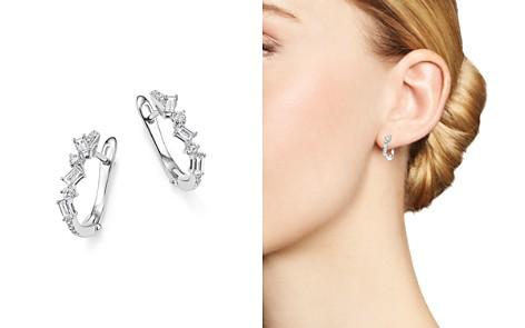 KC Designs 14K White Gold Diamond Mosaic Hoop Earrings - Bloomingdale's_2