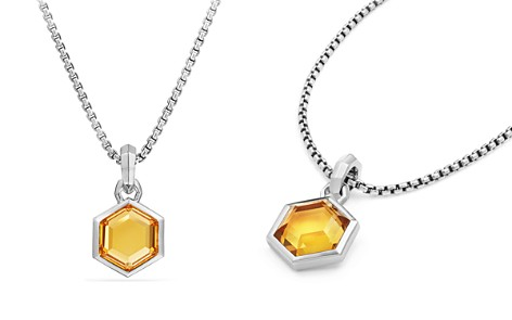 David Yurman Hexagon Cut Amulet with Citrine - Bloomingdale's_2